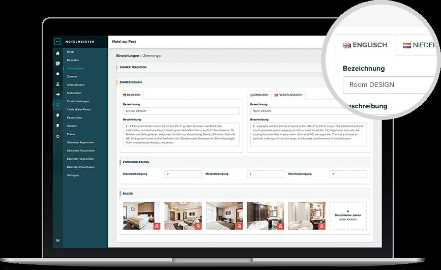 Hotelmeister - Cloud Hotelsoftware - Mehrsprachig